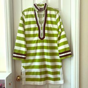 Green Striped Sail to Sable Dress